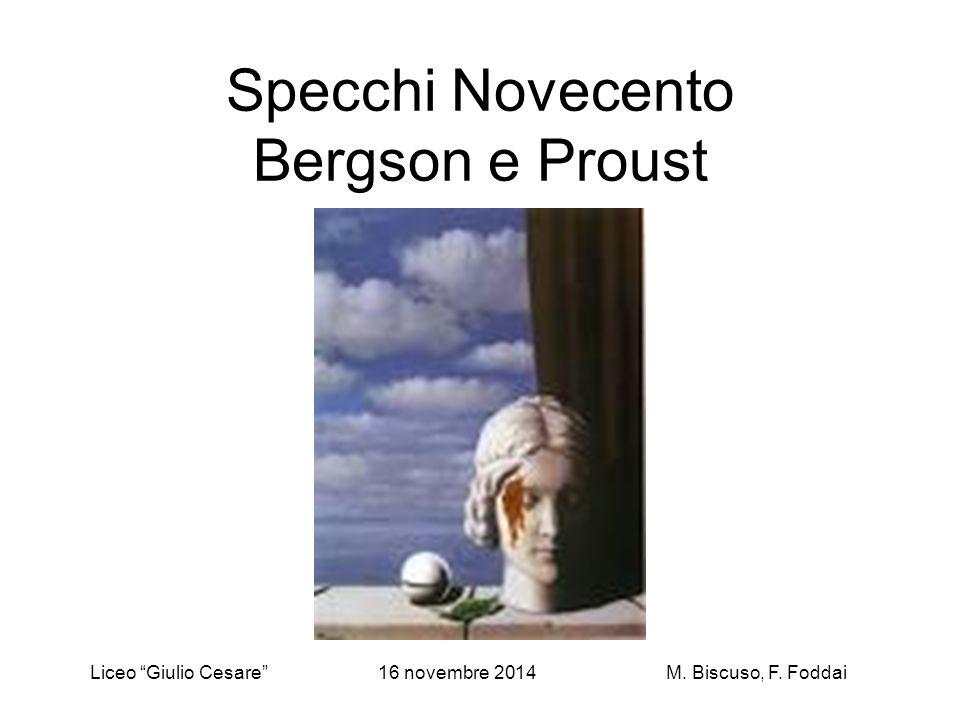 Specchi Novecento Bergson e Proust