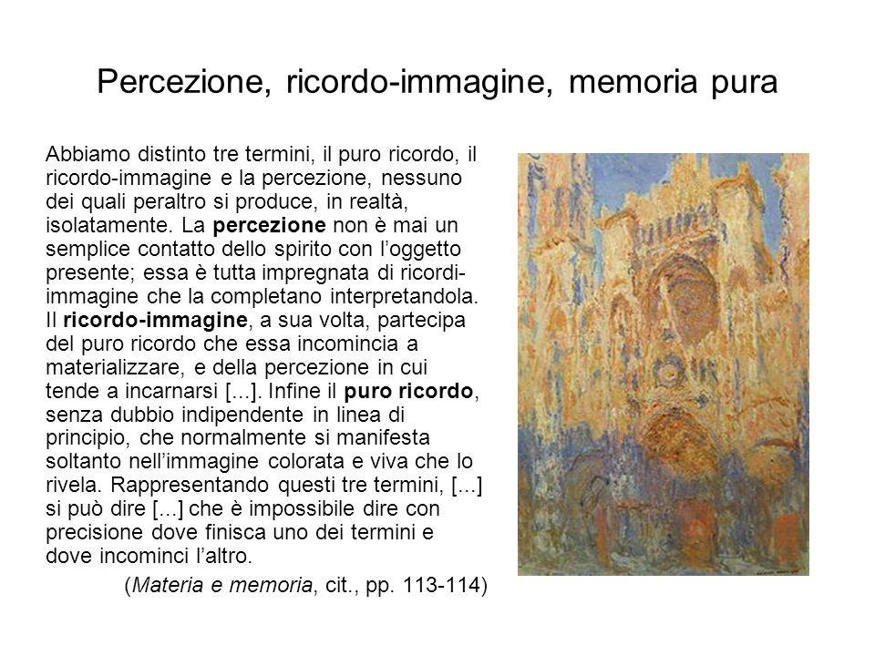 Percezione, ricordo-immagine, memoria pura