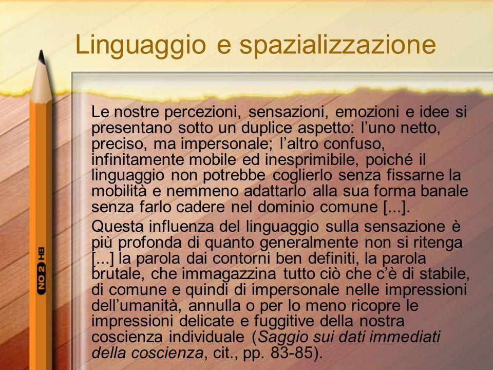 Linguaggio e spazializzazione