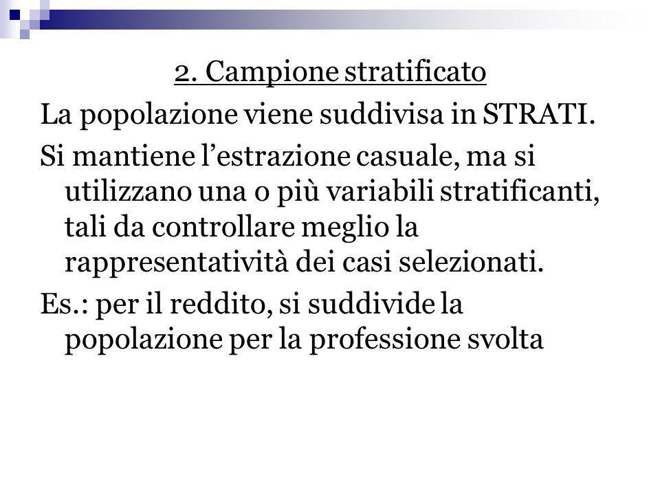 2. Campione stratificato