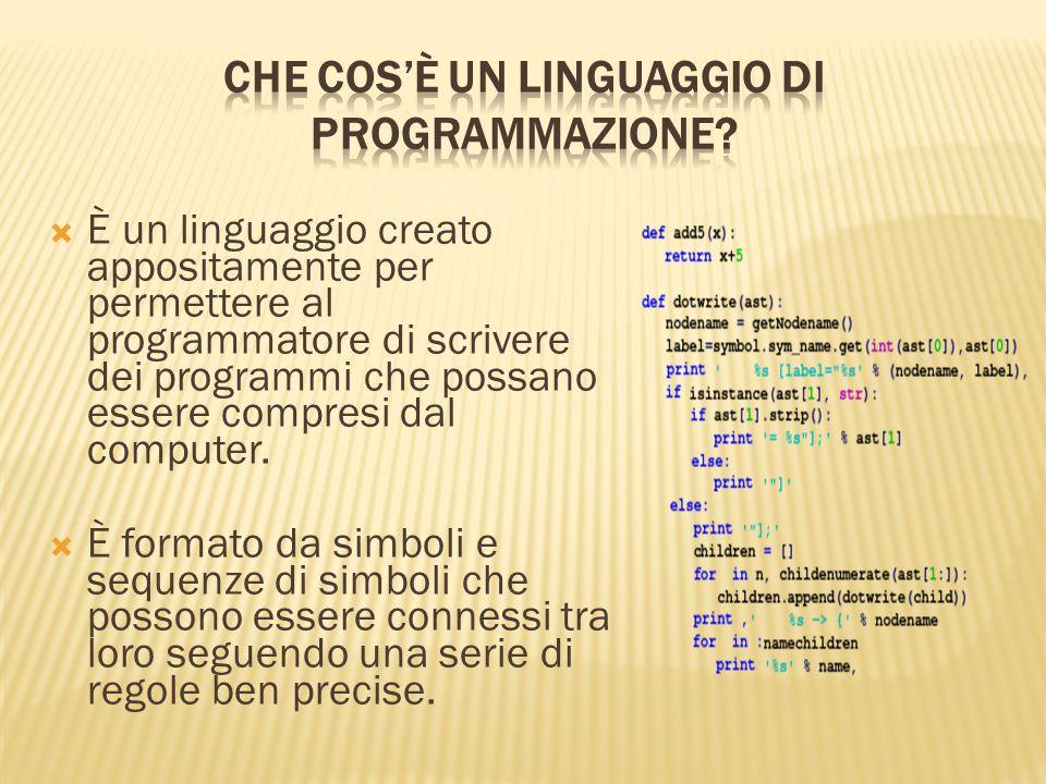 Che cos'è un linguaggio di programmazione