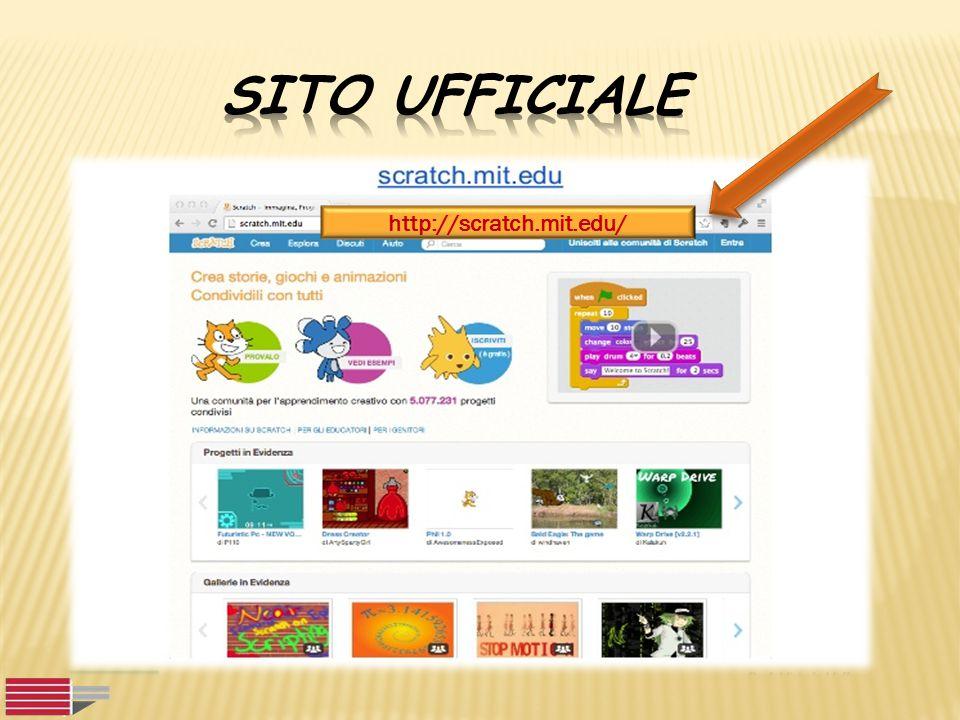 Sito ufficiale http://scratch.mit.edu/