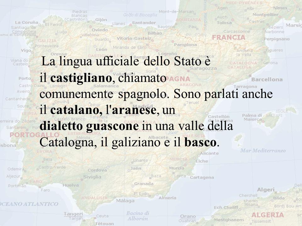 La lingua ufficiale dello Stato è il castigliano, chiamato comunemente spagnolo.