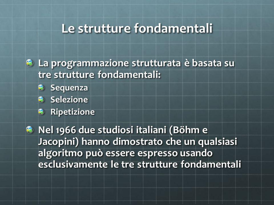Le strutture fondamentali