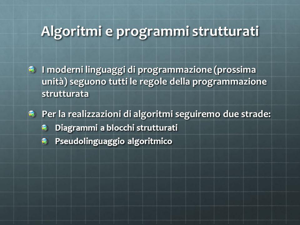 Algoritmi e programmi strutturati