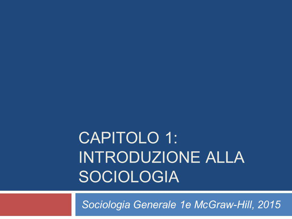 CAPITOLO 1: INTRODUZIONE ALLA SOCIOLOGIA
