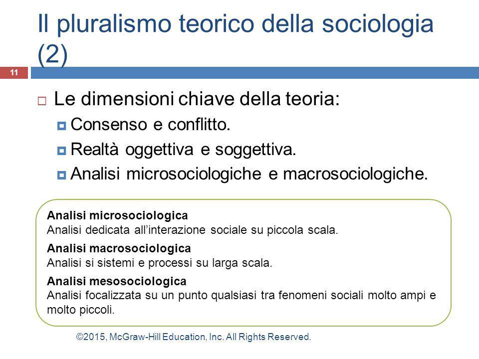 Il pluralismo teorico della sociologia (2)