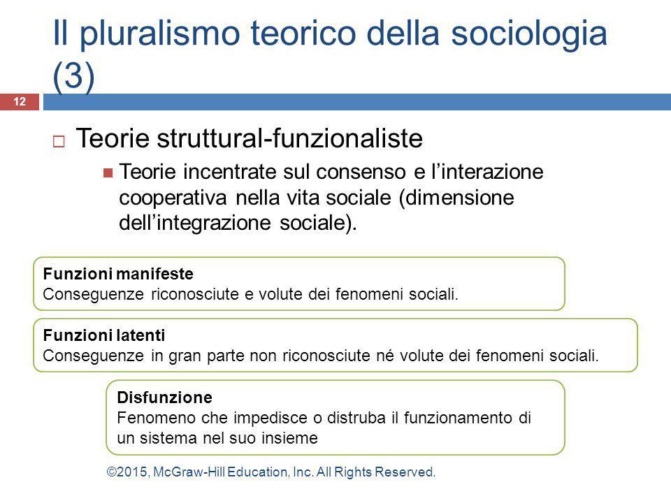 Il pluralismo teorico della sociologia (3)