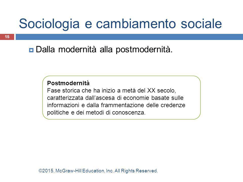 Sociologia e cambiamento sociale