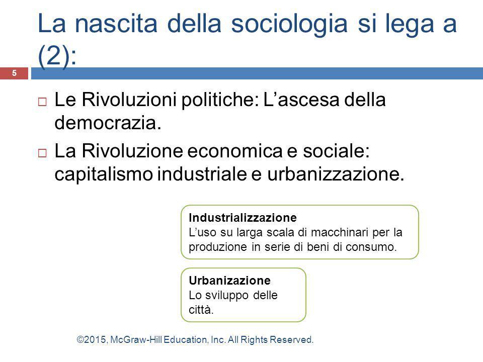 La nascita della sociologia si lega a (2):