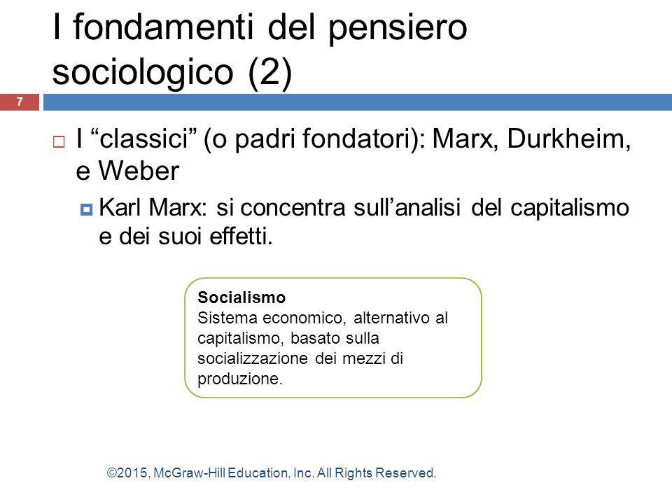 I fondamenti del pensiero sociologico (2)