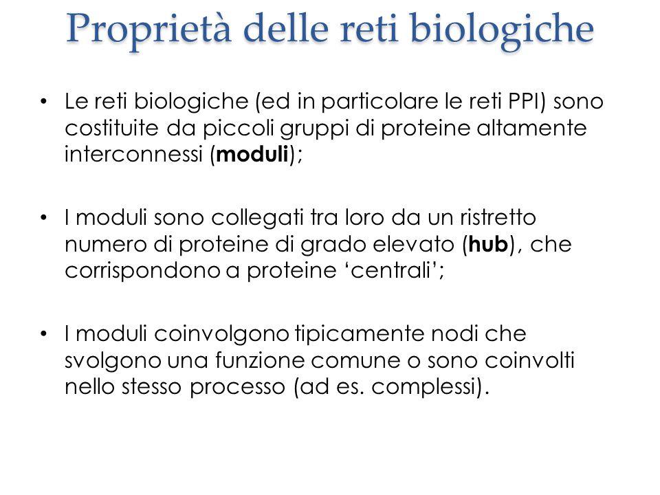 Proprietà delle reti biologiche