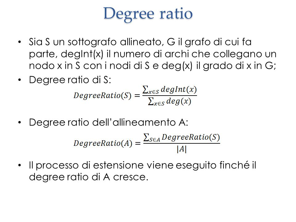 Degree ratio