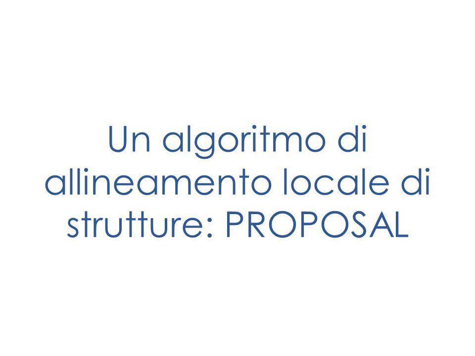 Un algoritmo di allineamento locale di strutture: PROPOSAL