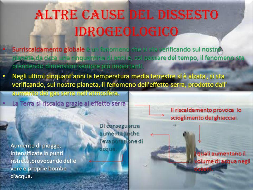 Altre cause del dissesto idrogeologico