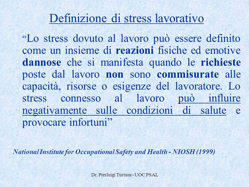 Definizione di stress lavorativo