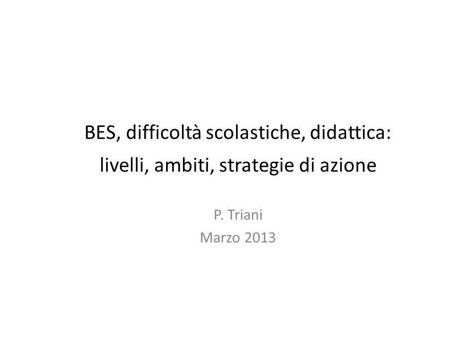 BES, difficoltà scolastiche, didattica: livelli, ambiti, strategie di azione