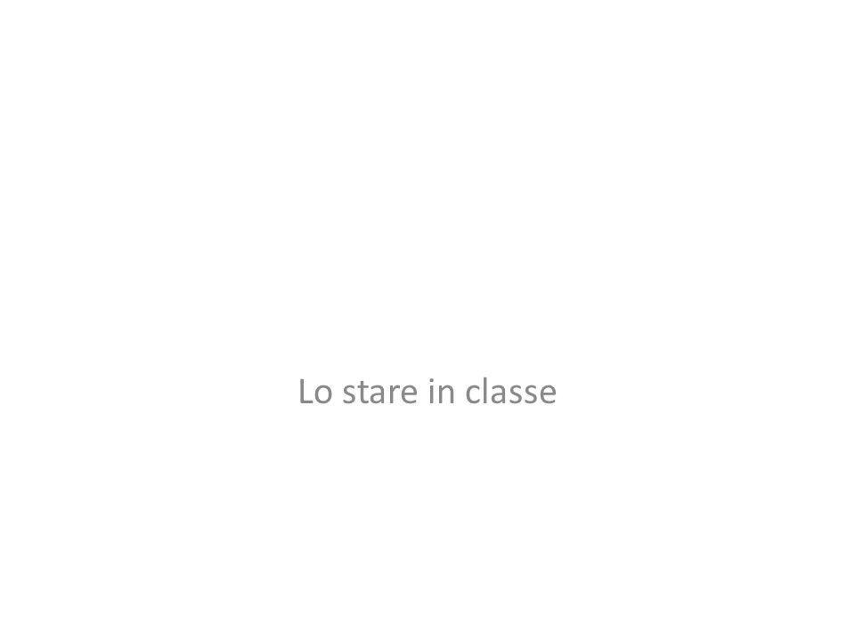 Lo stare in classe