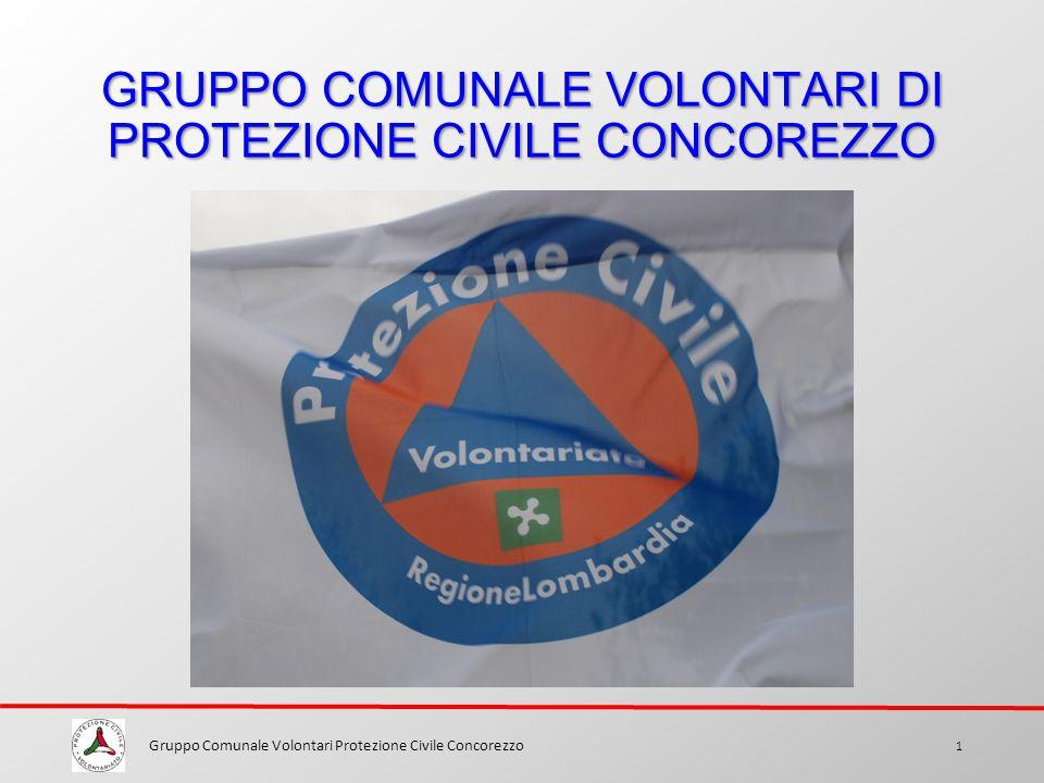 GRUPPO COMUNALE VOLONTARI DI PROTEZIONE CIVILE CONCOREZZO