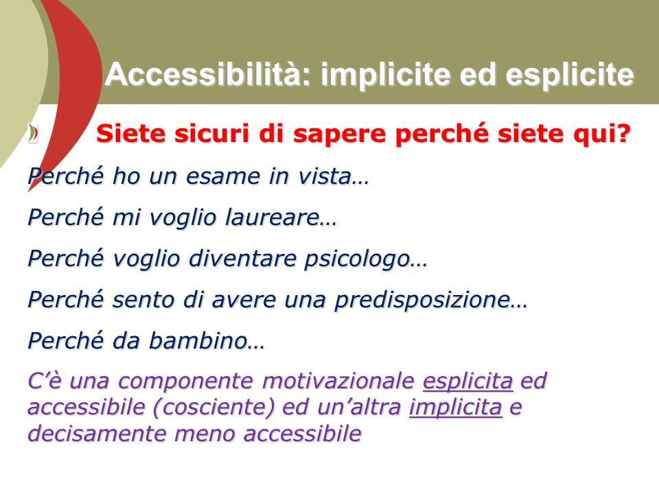 Accessibilità: implicite ed esplicite