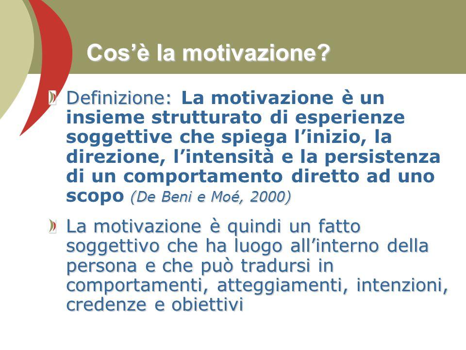 Cos'è la motivazione