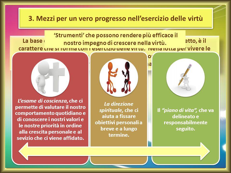 3. Mezzi per un vero progresso nell'esercizio delle virtù