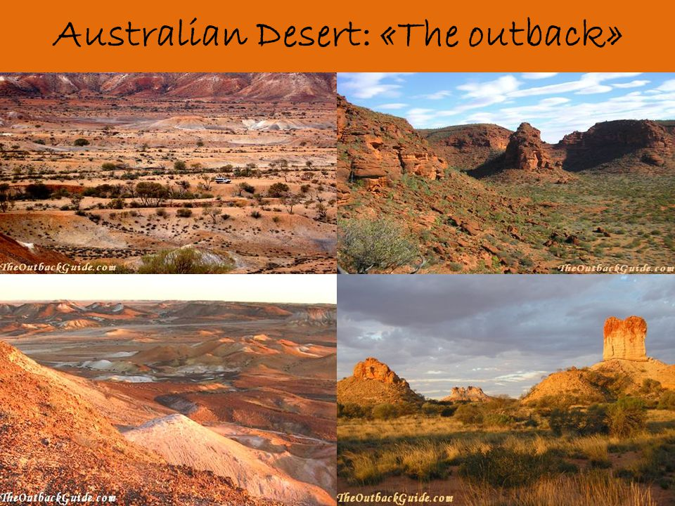 Australian Desert: «The outback»