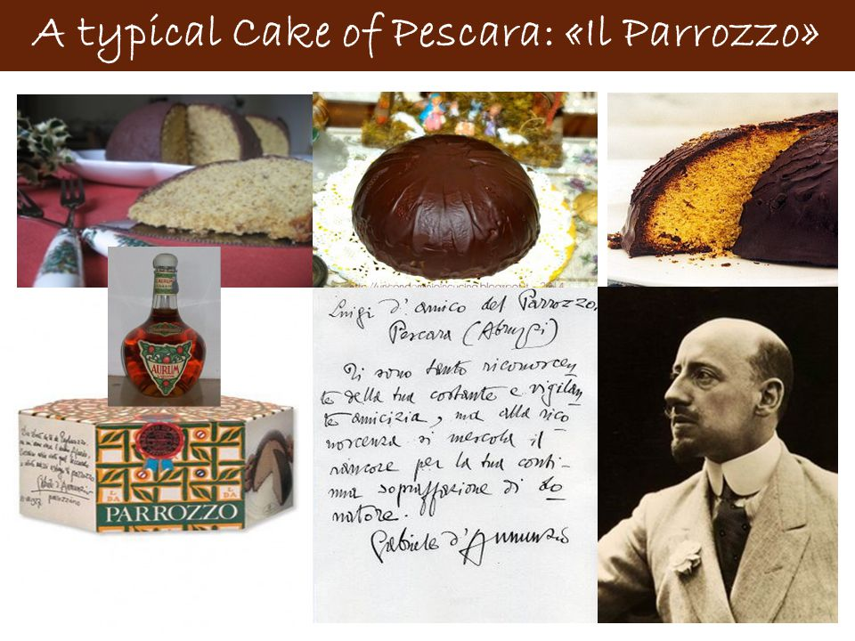 A typical Cake of Pescara: «Il Parrozzo»