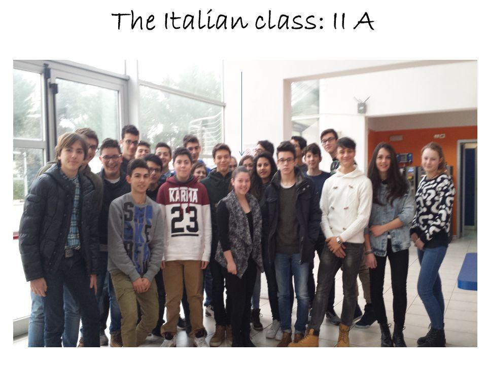 The Italian class: II A
