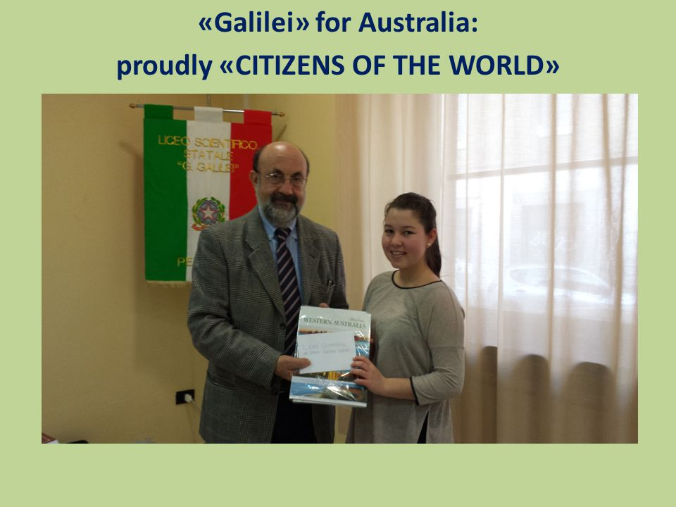 «Galilei» for Australia: proudly «CITIZENS OF THE WORLD»