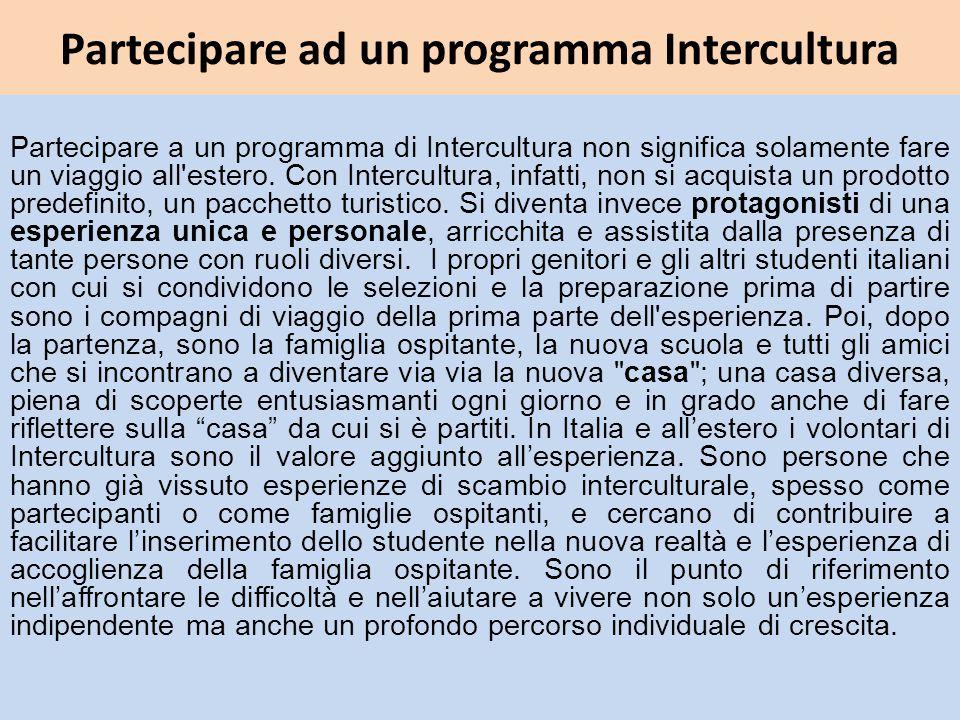 Partecipare ad un programma Intercultura