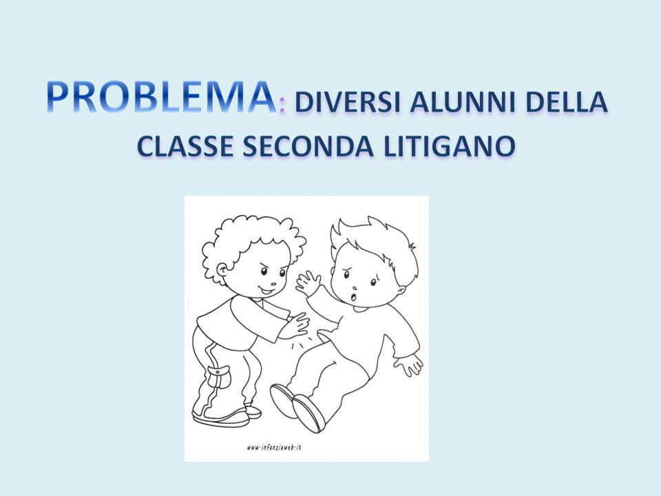PROBLEMA: DIVERSI ALUNNI DELLA CLASSE SECONDA LITIGANO