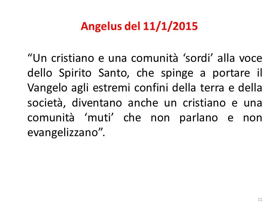 Angelus del 11/1/2015