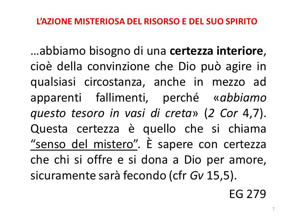 L'AZIONE MISTERIOSA DEL RISORSO E DEL SUO SPIRITO