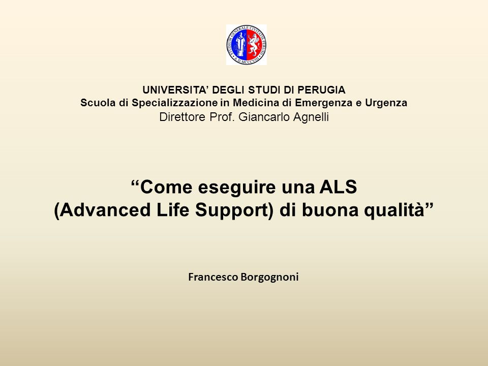 (Advanced Life Support) di buona qualità