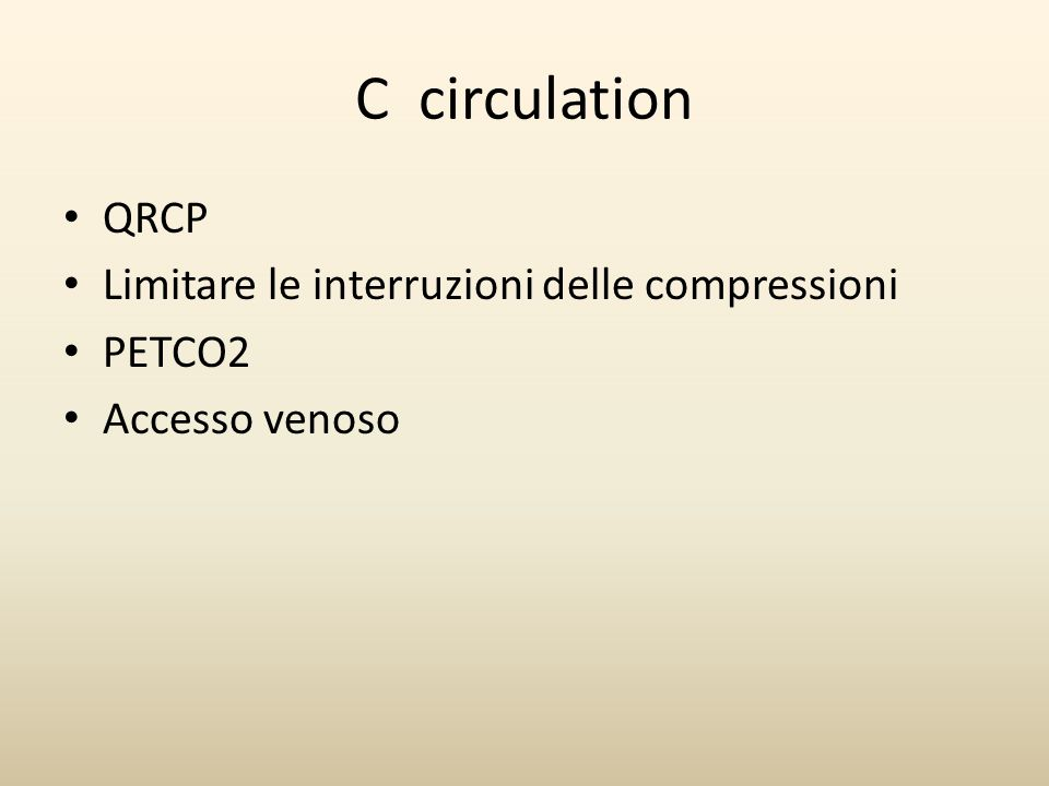 C circulation QRCP Limitare le interruzioni delle compressioni PETCO2