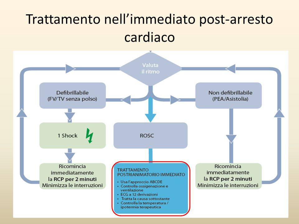 Trattamento nell'immediato post-arresto cardiaco