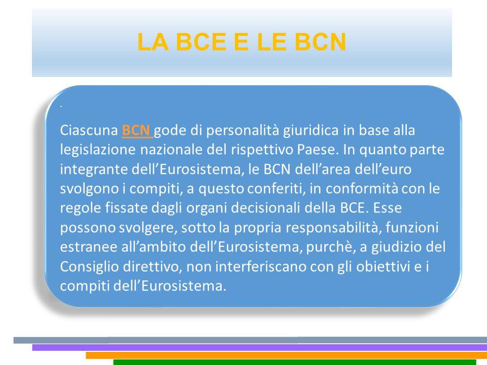 LA BCE E LE BCN .