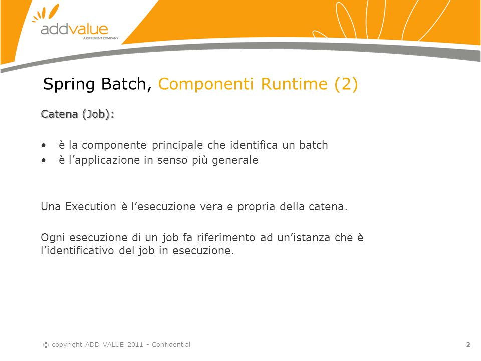 Spring Batch, Componenti Runtime (2)