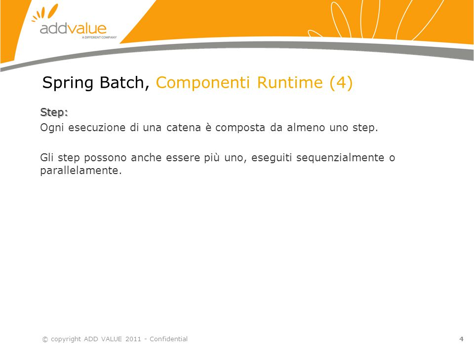 Spring Batch, Componenti Runtime (4)