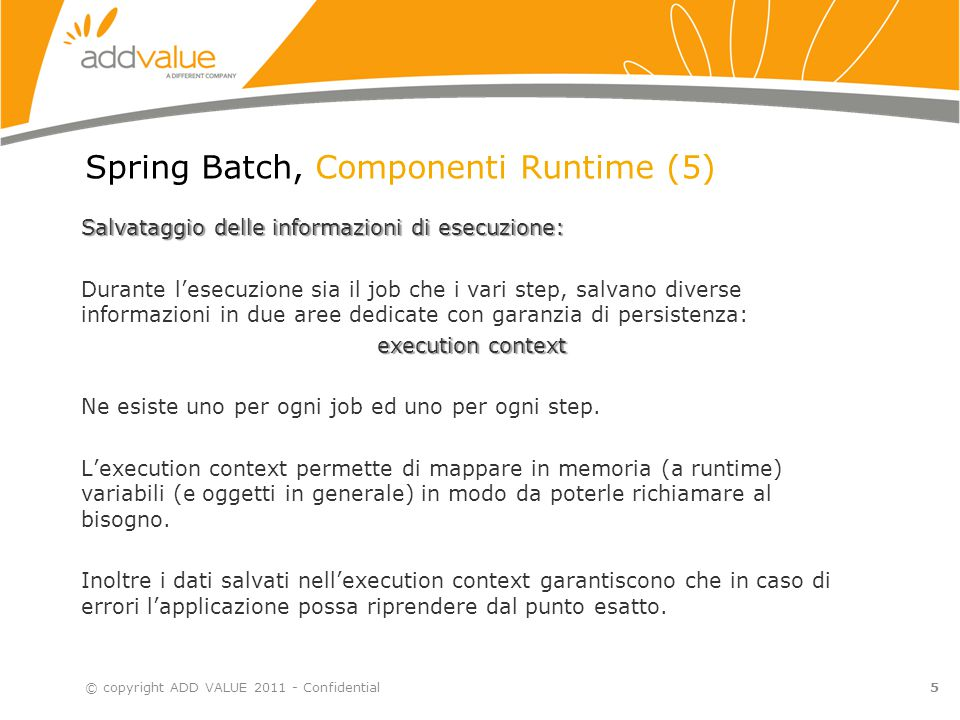 Spring Batch, Componenti Runtime (5)