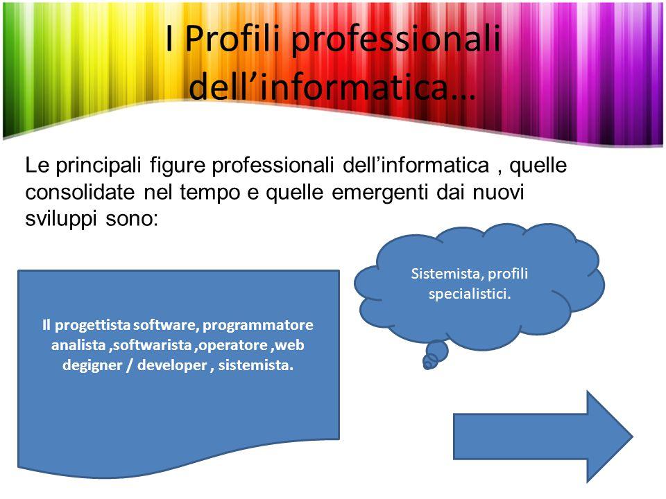 I Profili professionali dell'informatica…