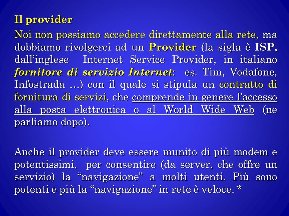 Il provider