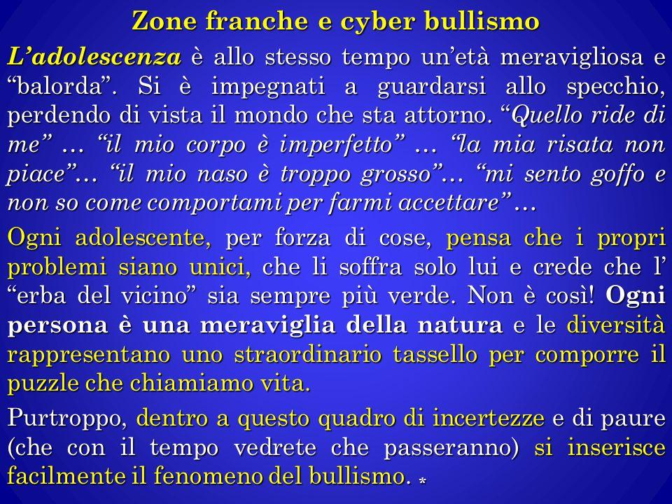 Zone franche e cyber bullismo