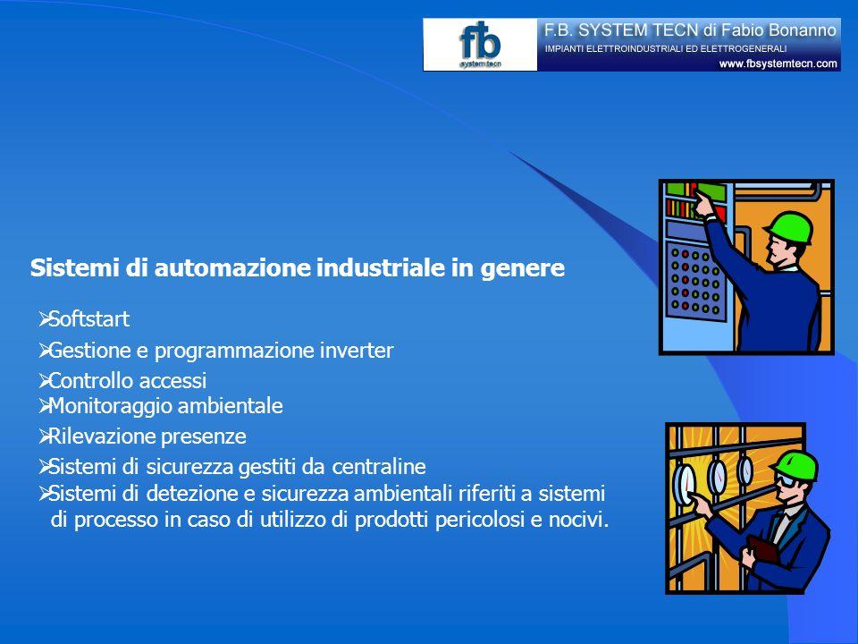 Sistemi di automazione industriale in genere