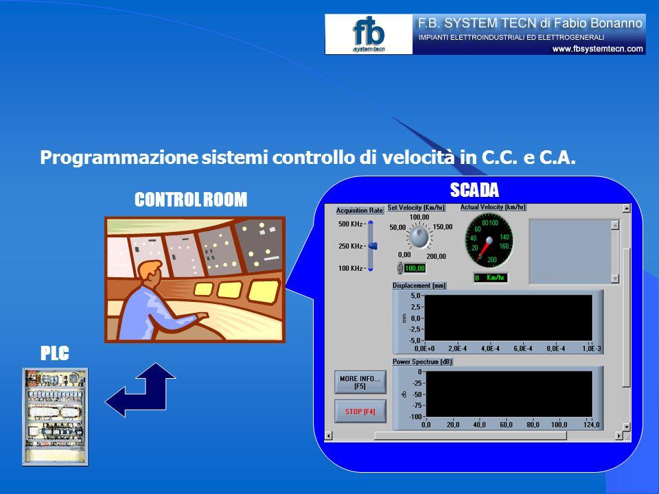 Programmazione sistemi controllo di velocità in C.C. e C.A.