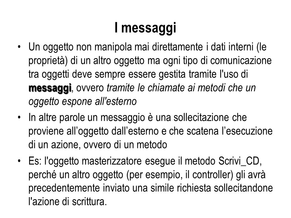 I messaggi