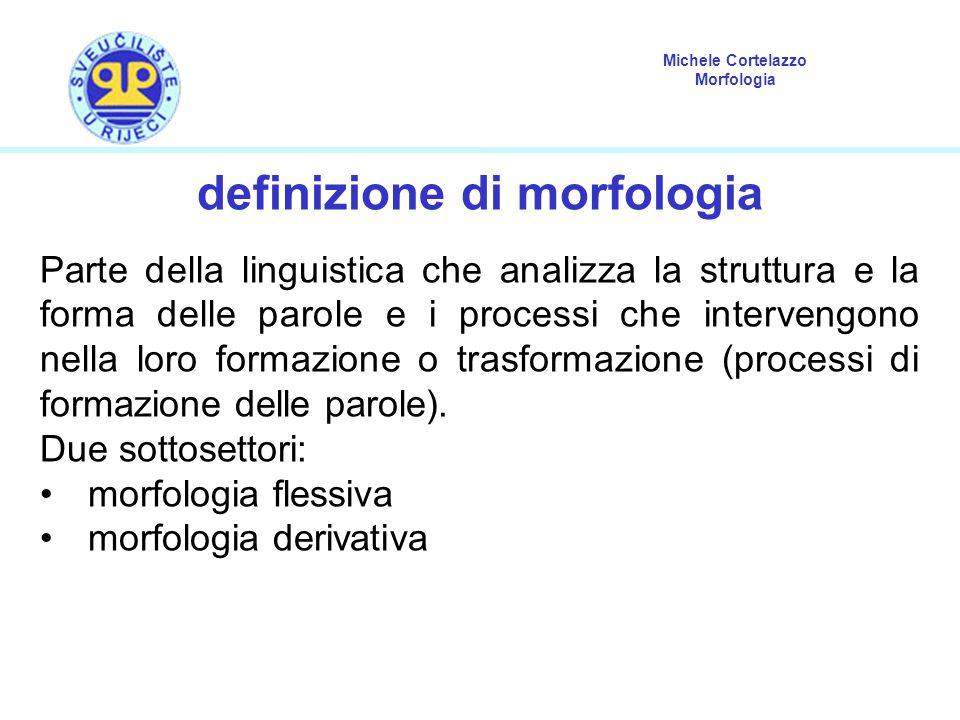 definizione di morfologia