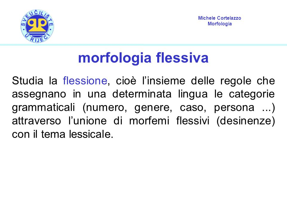 morfologia flessiva