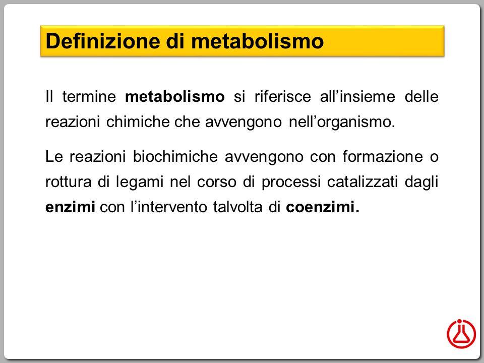 Definizione di metabolismo